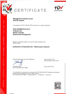 Certificate by TÜV Austria